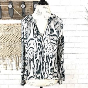 Young Fabulous & BrokeAnimal print top size Small